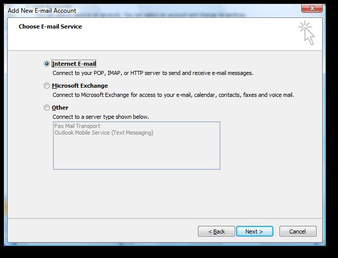 Backup dữ liệu mail lưu trên server về máy tính bằng Outlook 2007 4