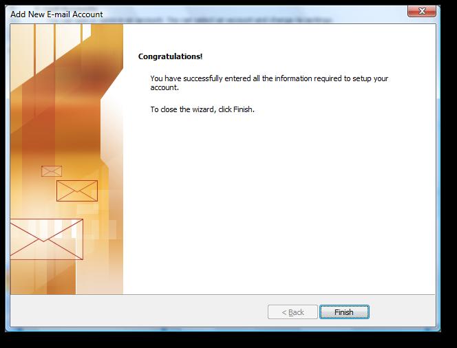 Backup dữ liệu mail lưu trên server về máy tính bằng Outlook 2007 9