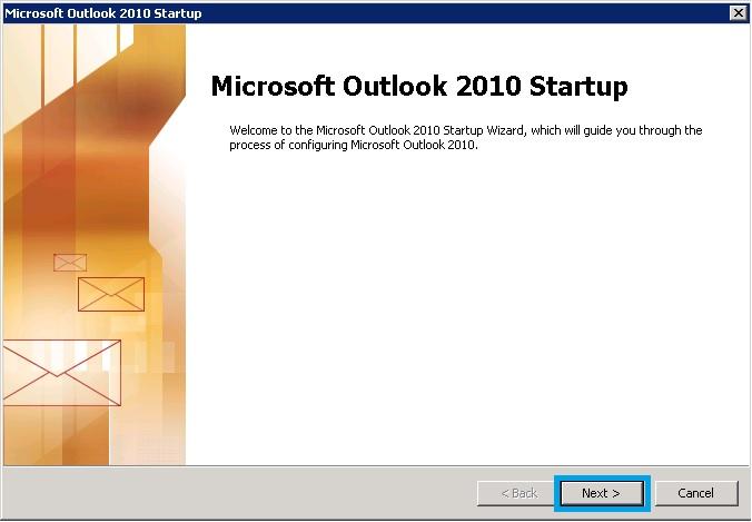 Bước 1 Backup dữ liệu mail lưu trên server về máy tính bằng Outlook 2010