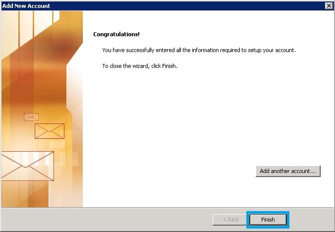 Bước 10 Backup dữ liệu mail lưu trên server về máy tính bằng Outlook 2010