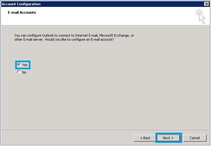 Bước 2 Backup dữ liệu mail lưu trên server về máy tính bằng Outlook 2010