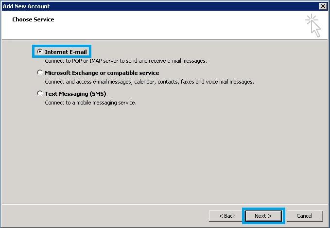 Bước 4 Backup dữ liệu mail lưu trên server về máy tính bằng Outlook 2010