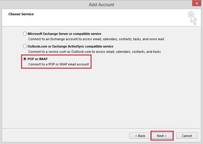 Bước 4 Backup dữ liệu mail lưu trên server về máy tính bằng Outlook 20132016