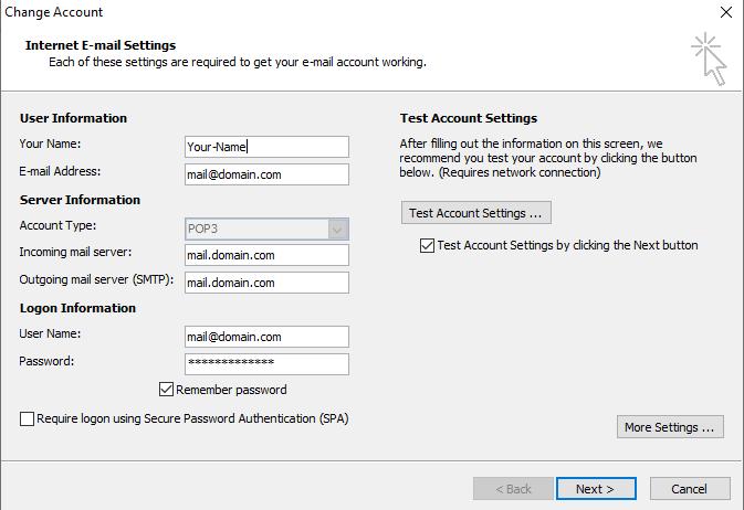 Bước 5 Backup dữ liệu mail lưu trên server về máy tính bằng Outlook 2010