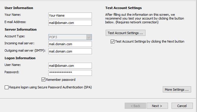 Bước 5 Backup dữ liệu mail lưu trên server về máy tính bằng Outlook 20132016