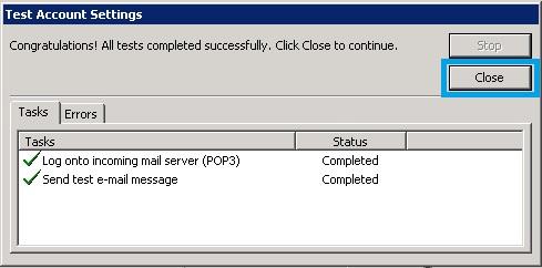 Bước 9 Backup dữ liệu mail lưu trên server về máy tính bằng Outlook 2010
