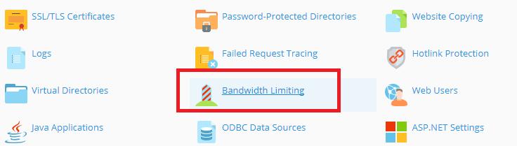 Click Bandwidth Limiting.