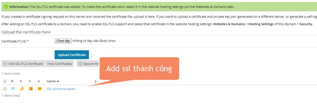 add ssl thành công