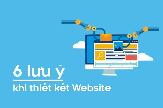 thiết kế website và những diều cần lưu ý