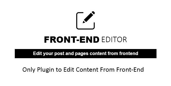 Plugin WP Quick Frontend Editor plugins wordpress