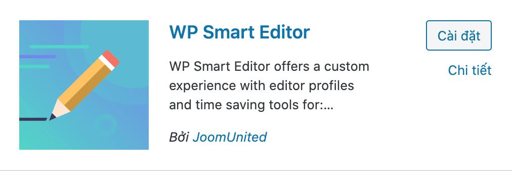 WP smart editor plugins wordpress