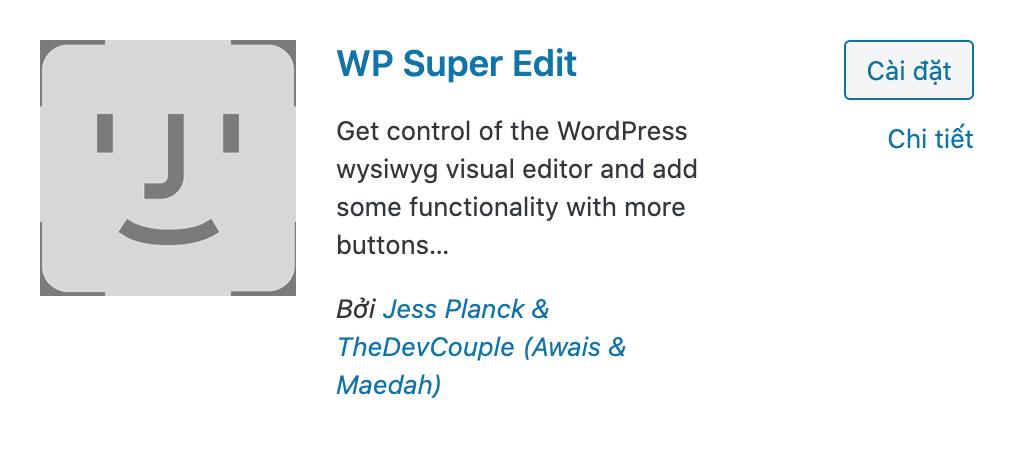 WP super Edit wordpress