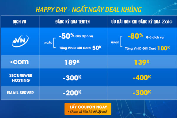 [16/03/2021 – 17/03/2021] ️HAPPY DAY – DEAL NGẤT NGÂY !!!!!!️
