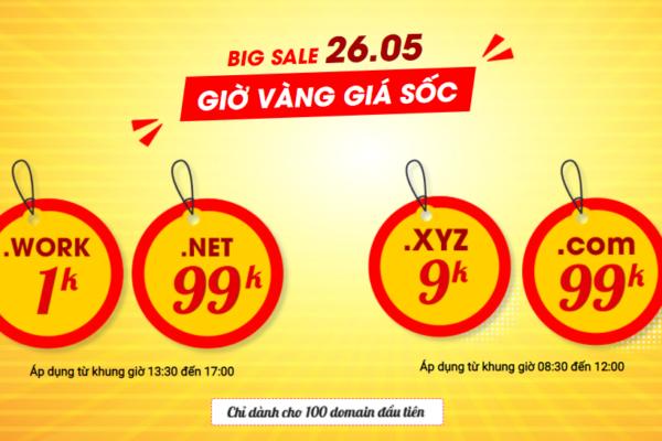 Big Sale – Tên miền chỉ 1K   Duy nhất 26/05