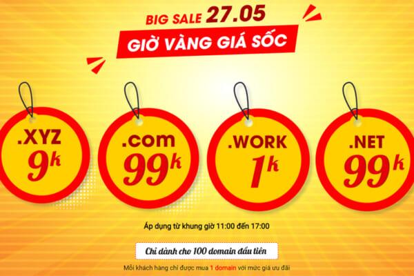 Thêm Big Sale – Thêm bùng nổ – Tên miền từ 1k 27/05/2021