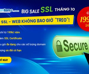 [BIG SALE SSL THÁNG 10] CHỈ TỪ 199K/NĂM BẢO MẬT AN TOÀN CHO WEBSITE