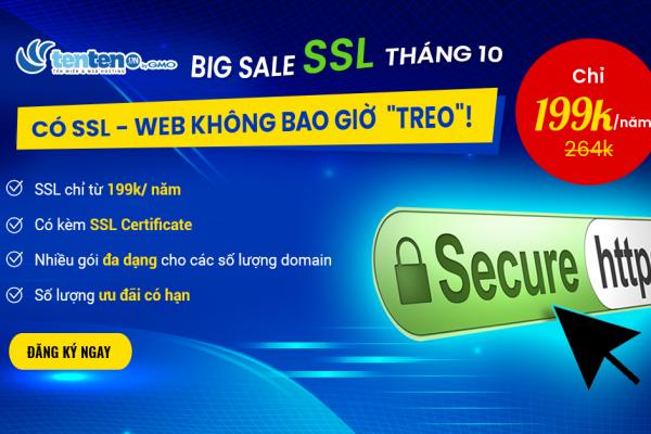 [BIG SALE] SSL CHỈ TỪ 199K/NĂM BẢO MẬT AN TOÀN CHO WEBSITE